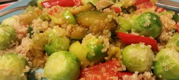 Quinoa met gewokte groenten (supersnel aan tafel!)