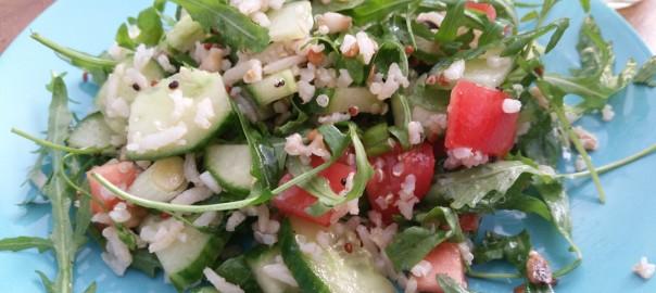 Salade met rijst
