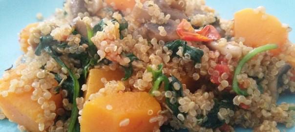Flespompoen met quinoa