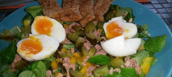 Snelle lunchsalade met tonijn