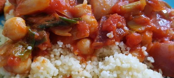 Groente stoof met couscous