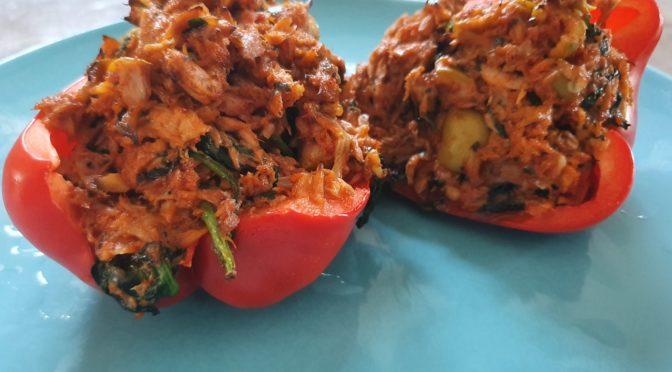 Gevulde paprika met tonijn